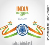 republic day of india 26 th... | Shutterstock .eps vector #554070094