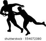 two rugby player | Shutterstock .eps vector #554072380