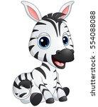 vector illustration of cute... | Shutterstock .eps vector #554088088