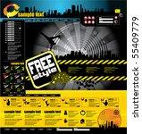 website layout | Shutterstock .eps vector #55409779