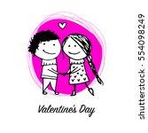 couple in love kissing ... | Shutterstock .eps vector #554098249