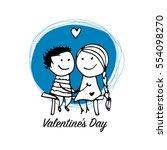 couple in love kissing ...   Shutterstock .eps vector #554098270
