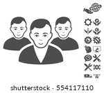 user group pictograph with... | Shutterstock .eps vector #554117110