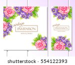 romantic invitation. wedding ... | Shutterstock .eps vector #554122393