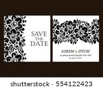 romantic invitation. wedding ... | Shutterstock . vector #554122423