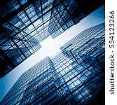 golden financial architecture... | Shutterstock . vector #554123266