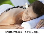 a woman relaxing at a health...   Shutterstock . vector #55412581