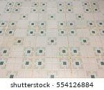 white and green tile floor... | Shutterstock . vector #554126884