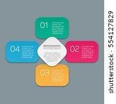 vector infographic template  4... | Shutterstock .eps vector #554127829