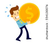 businessman trying hard to...   Shutterstock .eps vector #554130076