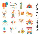 vector collection with carnival ... | Shutterstock .eps vector #554134786