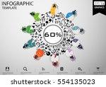 businessman brainstorming ... | Shutterstock .eps vector #554135023