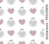 abstract pomegranate and... | Shutterstock .eps vector #554135854