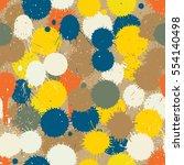 vector seamless tile of... | Shutterstock .eps vector #554140498