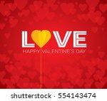 happy valentine's day  ... | Shutterstock .eps vector #554143474