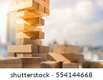 the tower stack from wooden... | Shutterstock . vector #554144668