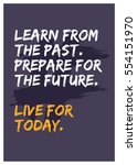 learn from the past. prepare... | Shutterstock .eps vector #554151970