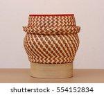 handicraft bucket in thailand... | Shutterstock . vector #554152834