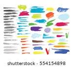 grunge hand drawn brush stroke... | Shutterstock .eps vector #554154898