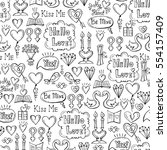 vector seamless pattern with... | Shutterstock .eps vector #554157409
