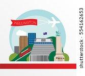 wellington  new zeland   6...   Shutterstock .eps vector #554162653