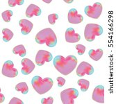 heart seamless background | Shutterstock .eps vector #554166298