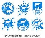 dairy vintage vector logos ... | Shutterstock .eps vector #554169304