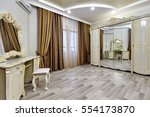 bedroom with a beautiful...   Shutterstock . vector #554173870
