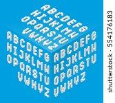 isometric style fonts set... | Shutterstock .eps vector #554176183