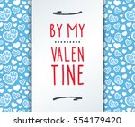 valentine's day abstract... | Shutterstock .eps vector #554179420