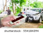 man use mobile phone  blur... | Shutterstock . vector #554184394