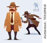 detective character design ...   Shutterstock .eps vector #554189818