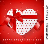 happy valentine's day greeting... | Shutterstock .eps vector #554193124