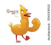 vector cartoon image of a funny ... | Shutterstock .eps vector #554193910