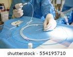 doctor preparing for vein... | Shutterstock . vector #554195710