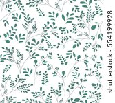 floral pattern of small plants... | Shutterstock .eps vector #554199928