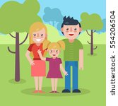young parents flat illustration.... | Shutterstock . vector #554206504