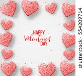 happy valentines day and... | Shutterstock .eps vector #554209714
