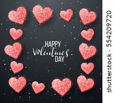 happy valentines day and... | Shutterstock .eps vector #554209720
