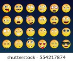 set of emoticons. vector smile... | Shutterstock .eps vector #554217874