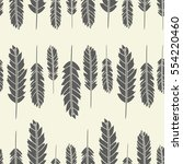 seamless pattern with feathers. ... | Shutterstock .eps vector #554220460