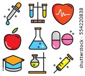 science icons  technology... | Shutterstock .eps vector #554220838