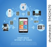 smart house and internet of... | Shutterstock . vector #554224270