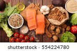 healthy food composition | Shutterstock . vector #554224780