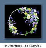 spring primroses card with... | Shutterstock .eps vector #554229058