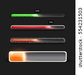 progress loading bar with... | Shutterstock .eps vector #554231503