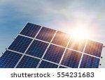 solar panel  photovoltaic ... | Shutterstock . vector #554231683