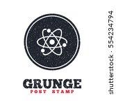grunge post stamp. circle... | Shutterstock .eps vector #554234794