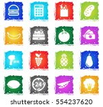 grocery simply symbol in grunge ... | Shutterstock .eps vector #554237620