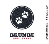 grunge post stamp. circle... | Shutterstock .eps vector #554238124